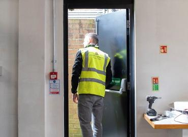 installation of a fire door
