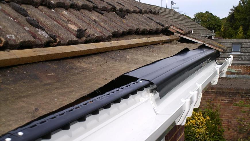 replaceing eaves felt